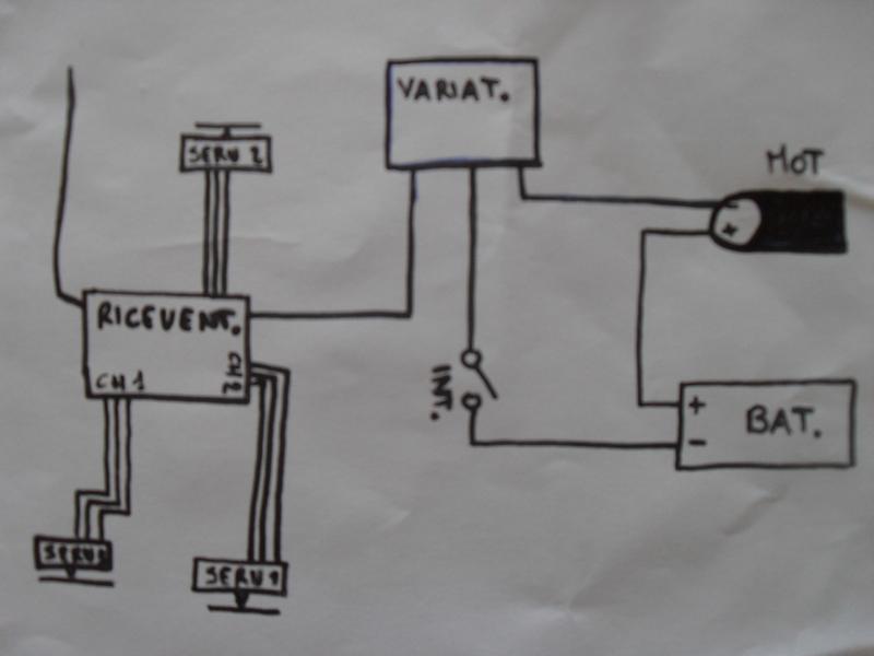 Schema elettrico barchino CarpFishing
